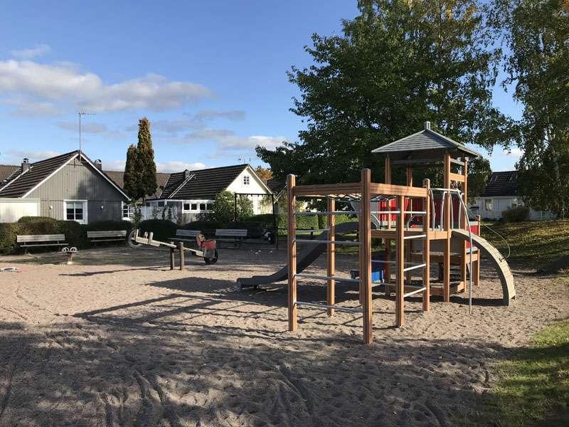 Stubbåkersvägens lekplats i Storvreta