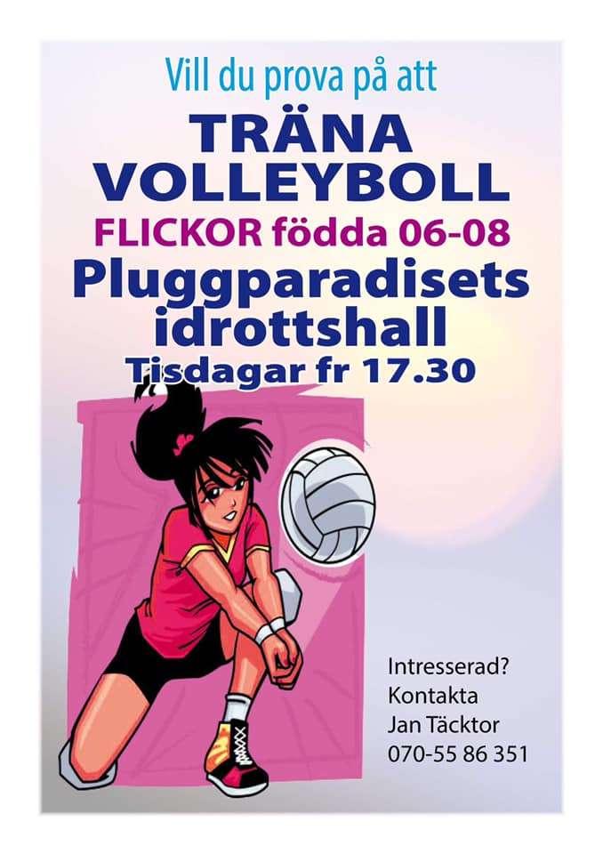 Evenemang i Storvreta Prova på volleyboll