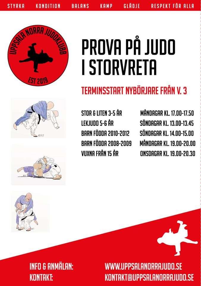 Evenemang Storvreta Prova på judo
