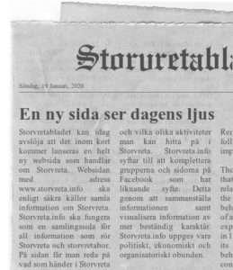 Nyhetsartikel i tidning för Storvreta.info