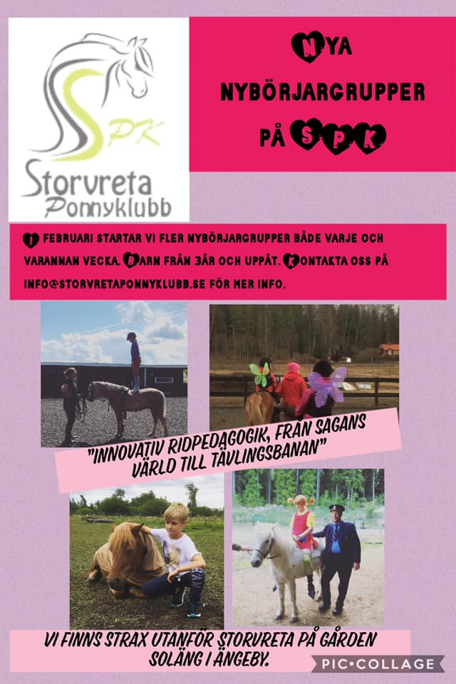 Evenemang Storvreta Ponnyklubb