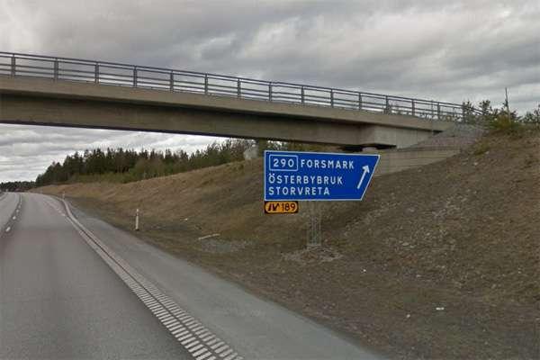E4 trafikplats 189S utanför Storvreta