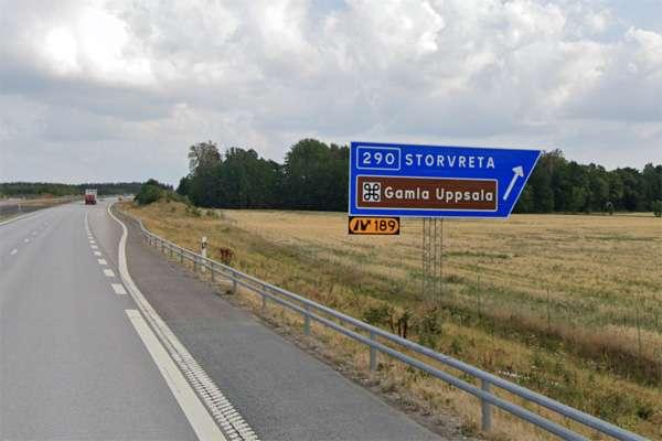 E4 trafikplats 189N utanför Storvreta