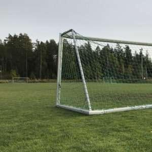 Fotbollsmål vid Skogsvallens IP i Storvreta