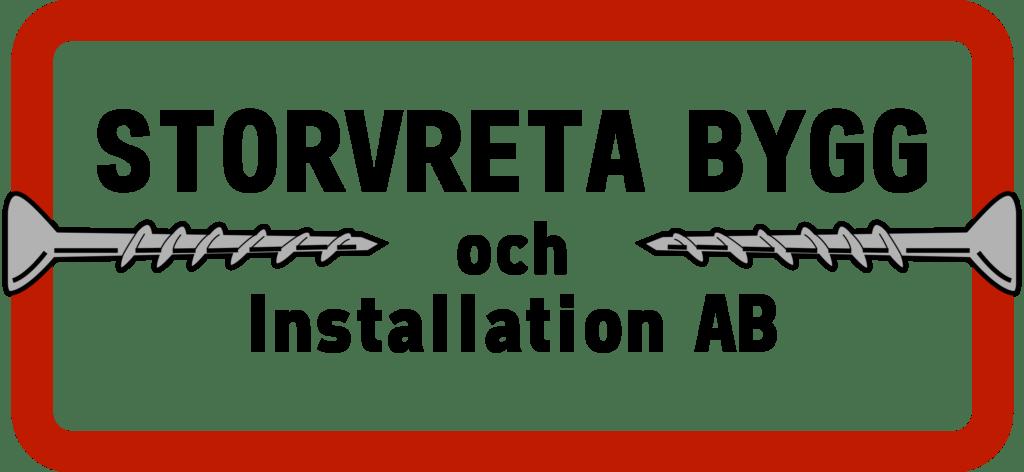 Logo för Storvreta bygg och installation AB i Storvreta