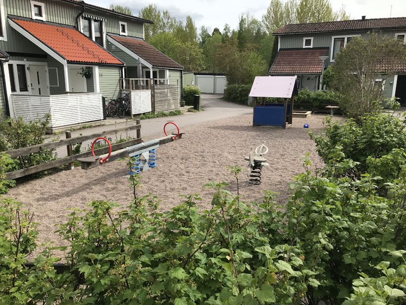 Lekplats på Månskensvägen i Storvreta