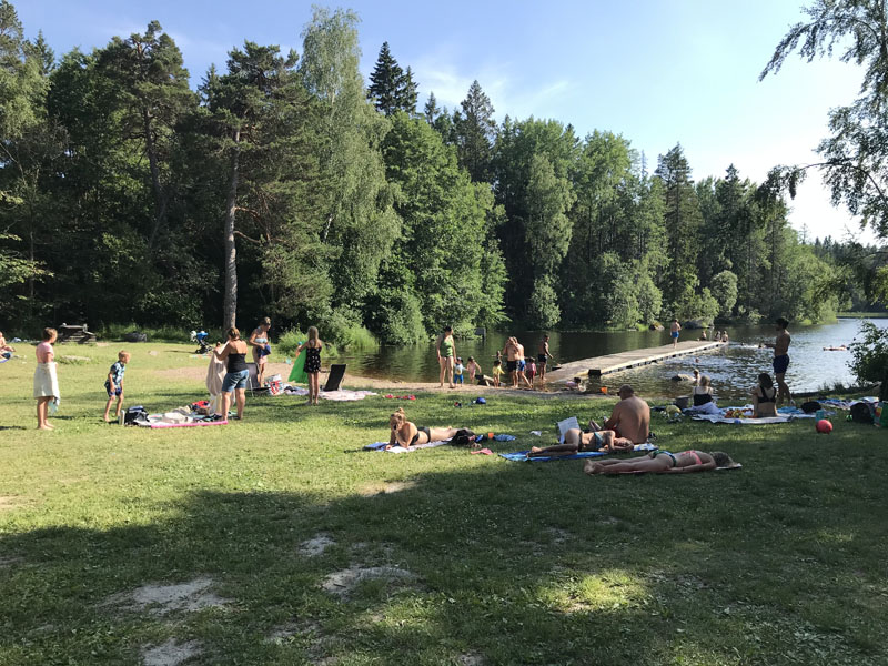 Badplats vid Lafsenbadet