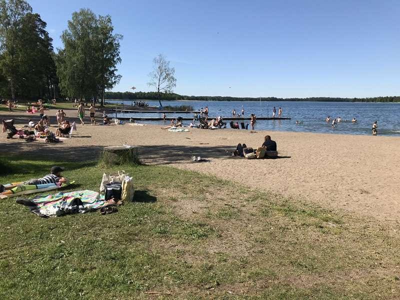 Badplats vid Sandviksbadet