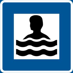 Badplatsskylt