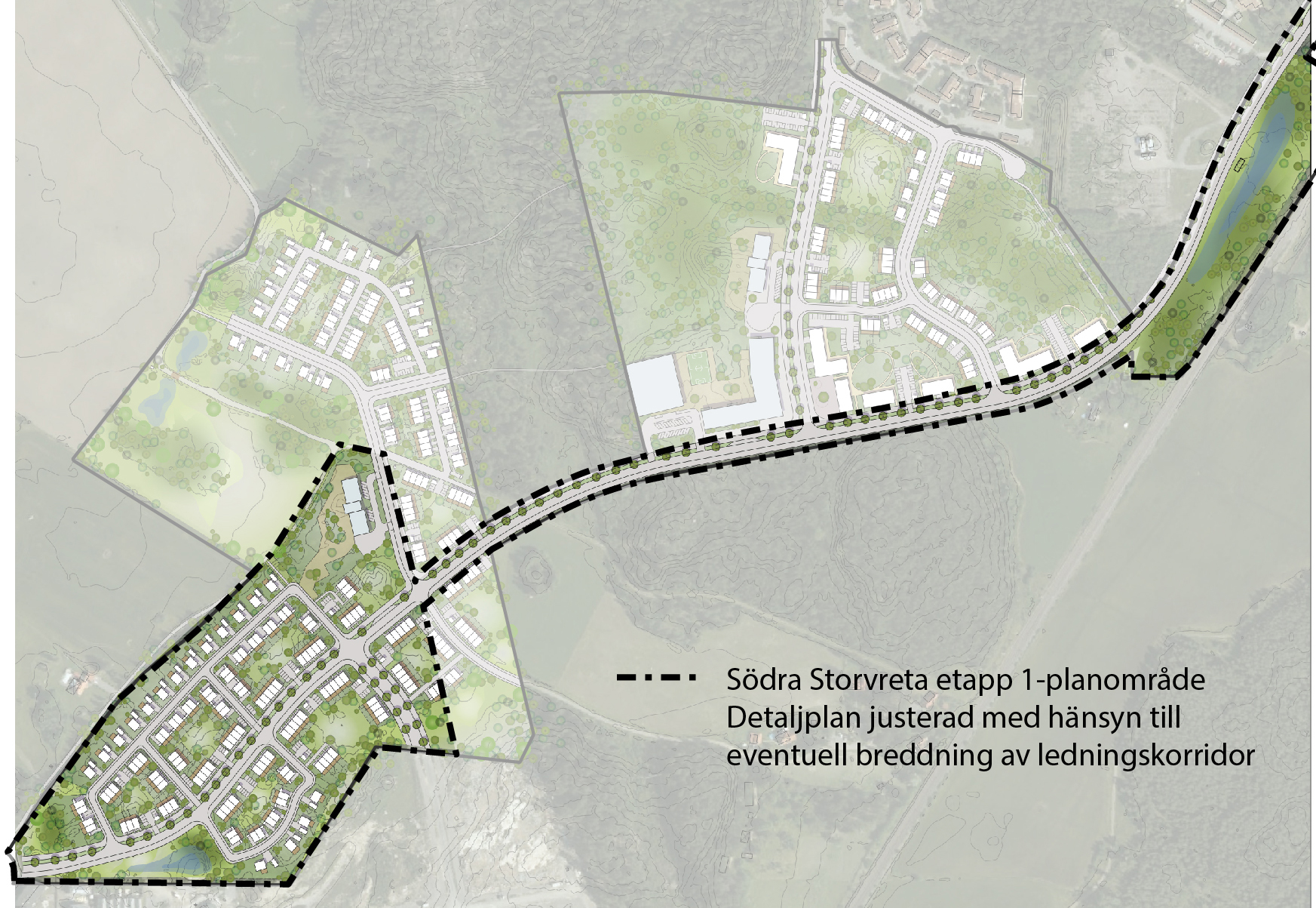 Delar av planläggningen för Södra Storvreta – etapp 1 pausas