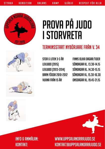 Terminsstart judo hösten 2021
